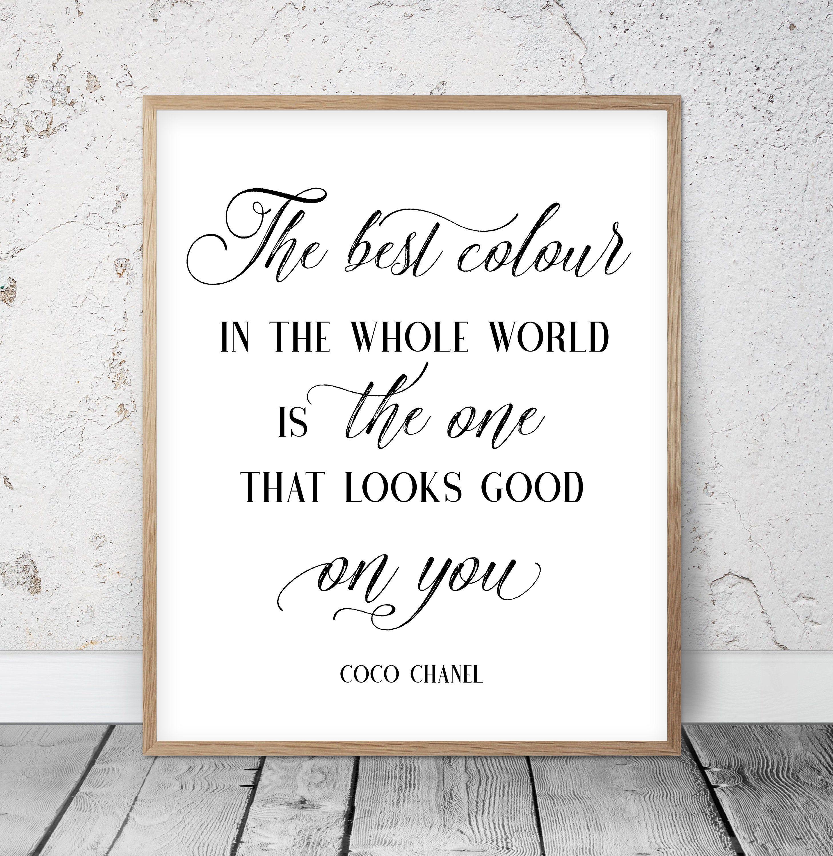Set Of 6 Inspirational Quotes, Girls Room Decor, Dorm Room Decor, Fashion Wall Art, Bridal Shower Gift, Nursery Printable, Teen Girl Bedroom