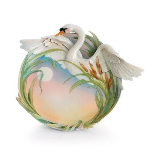 Franz Porcelain Southern Splendor Swan Platter