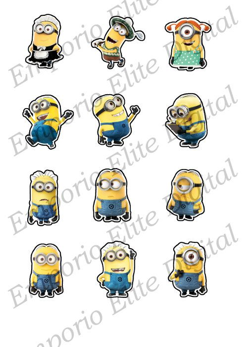 graphic relating to Minion Printable Cutouts referred to as Immediate Obtain Despicable Me Minions Printable Get together