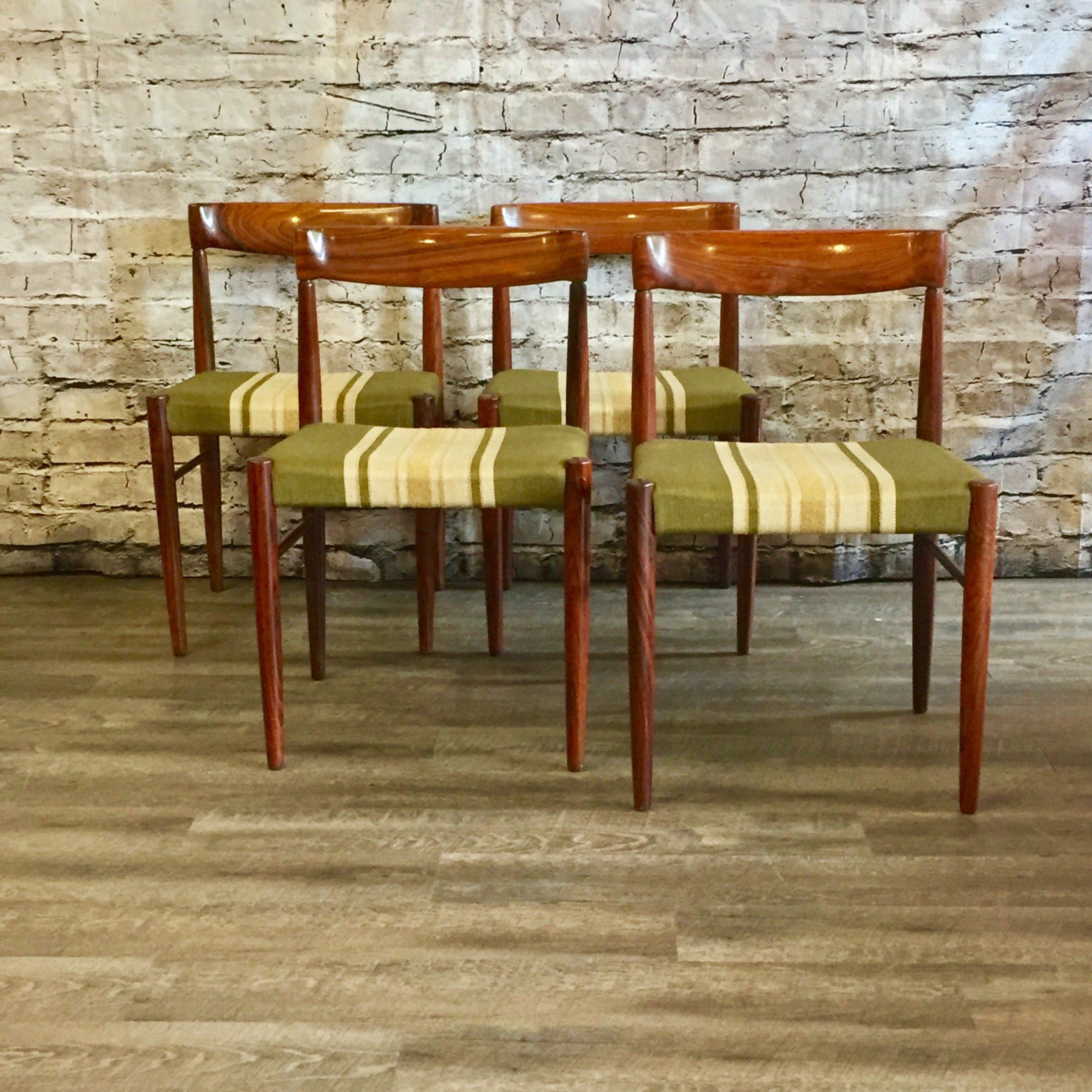 Mid Century Rosewood Dining Chairs By HW Klein For Bramin