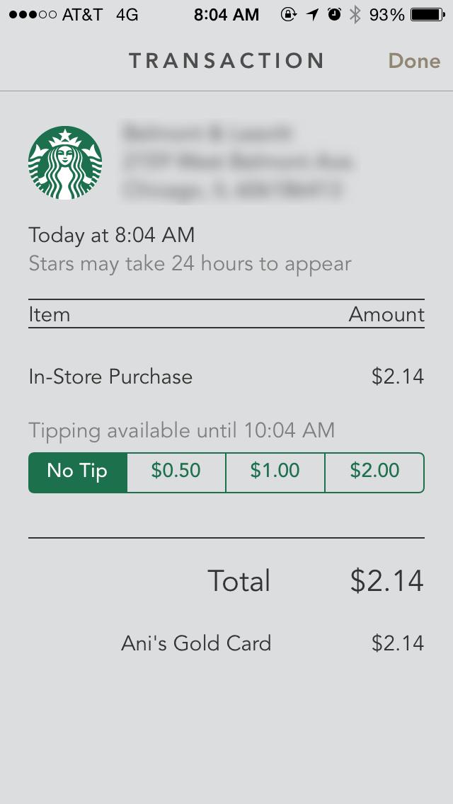 Starbucks Coffee Company Restaurant Marketing App App Design
