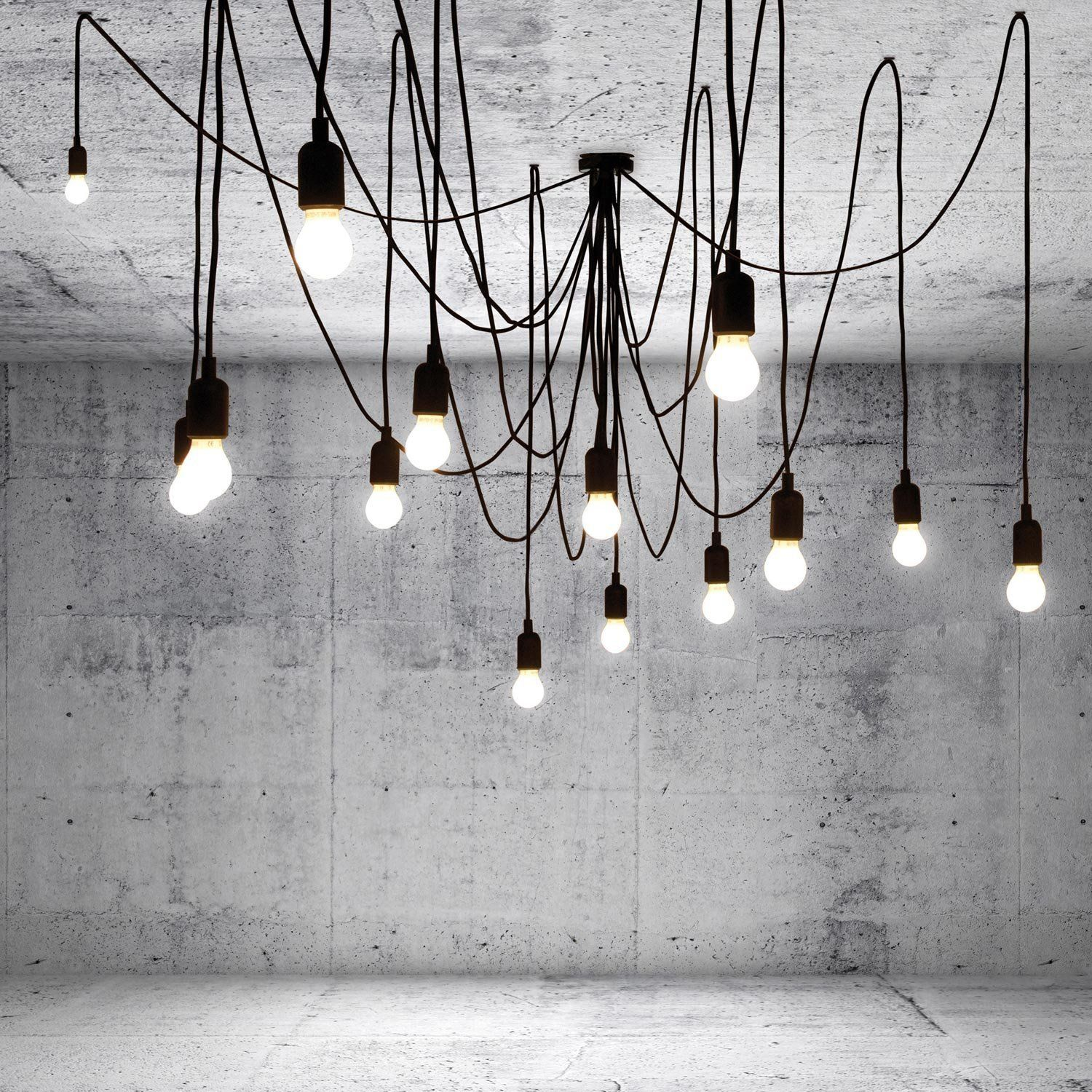 Seletti Maman Lampadario 14 Luci A Led Appendibili Filo Nero Amazon Voltage Ac E27 Pendant Light Lamp Holder Socket Without Wire Ceiling Amazonfr Luminaires Et Eclairage
