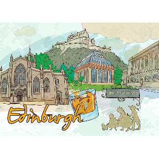 Edinburgh Scotland United Kingdom tshirts and gifts Travel