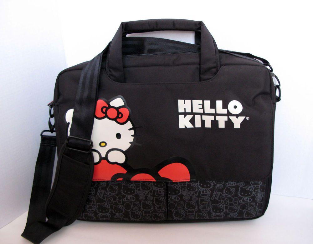 BRAND NEW HELLO KITTY LAPTOP CASE BLACK KT4335B BLACK 15.4
