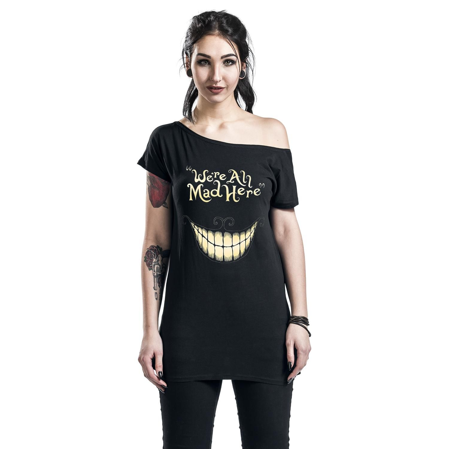 5be01b2f1b07f3 Alice In Wonderland T-Shirt »Mad Mouth«