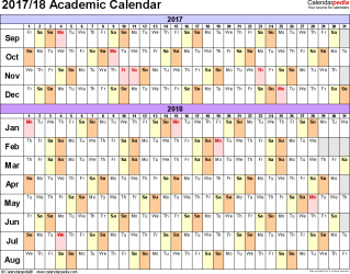 academic calendars 20172018 as free printable pdf templates