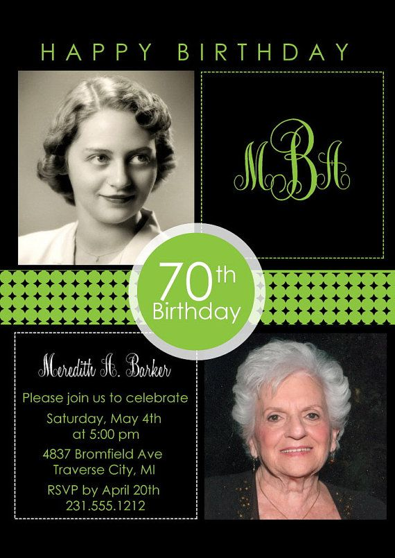 2 photo birthday invitation adult birthday party invitation cards 2 photo birthday invitation adult birthday by announceitfavors 75th birthday parties adult birthday party filmwisefo