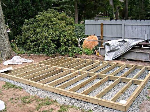 Faire une terrasse en bois pas cher avec images - Comment faire une piscine pas cher ...