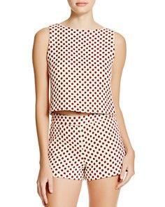 Shopping Selection : Alice + Olivia Amal Polka Dot Tank