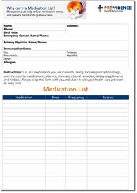Medication Chart  Printables    Chart And Planners