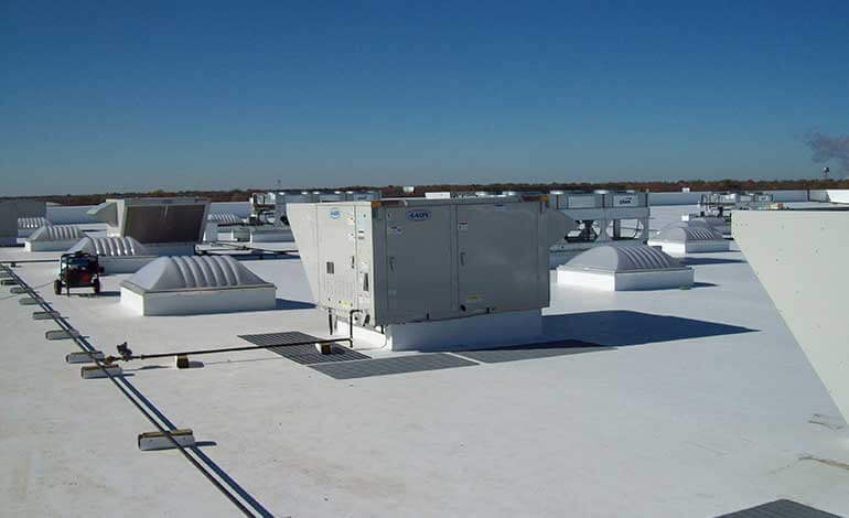 Our Expert Team Of Roofers Guarantees Ultimate Satisfaction When You Select Us To Install Or Replace Your Commercial Roof Commercialroofi In 2019 Residential Roofing Commercial Roofing Metal Roof