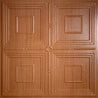 Ceilume Jackson Faux Wood Caramel 2 Ft X 2 Ft Lay In Or Glue Up Ceiling Panel Case Of 6 New House Ceiling Panels Ceiling Tiles Wood Ceilings