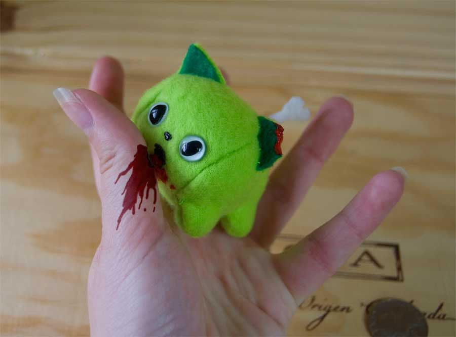 Mini Fat Zombie Kitten. $10.00, via Etsy.