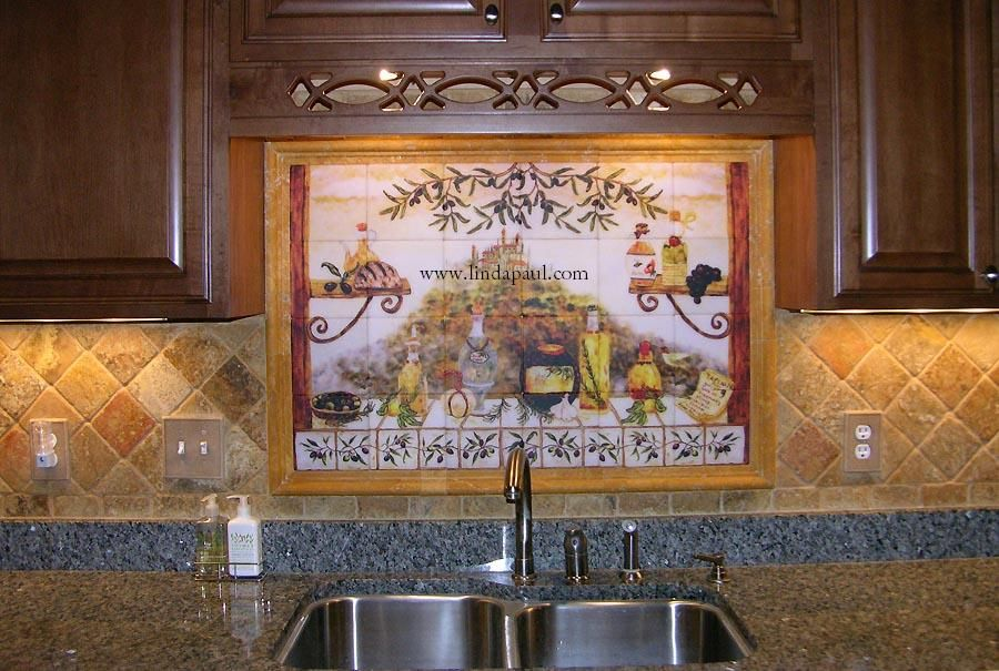 Italian Tile Backsplash Kitchen Tiles Murals Ideas Backsplash Mural Kitchen Tile Mural Italian Tiles