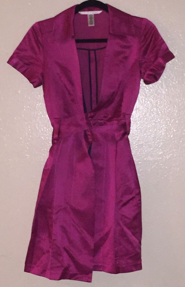 Diane Von Furstenberg Wrap Dress DVF Size 0 Pink Magenta Short ...