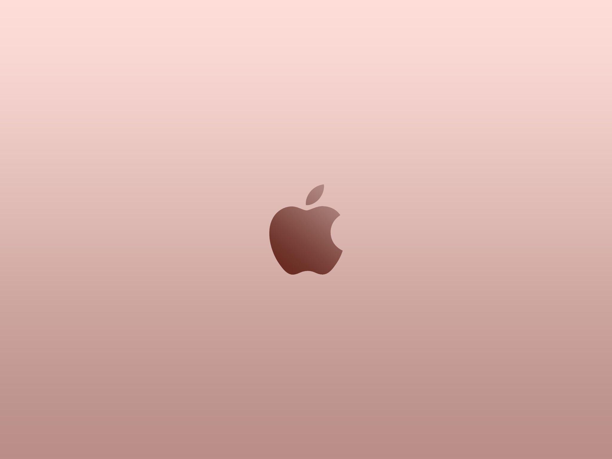 2048x1536 Apple Logo Rose Gold Wallpaper By Superquanganh