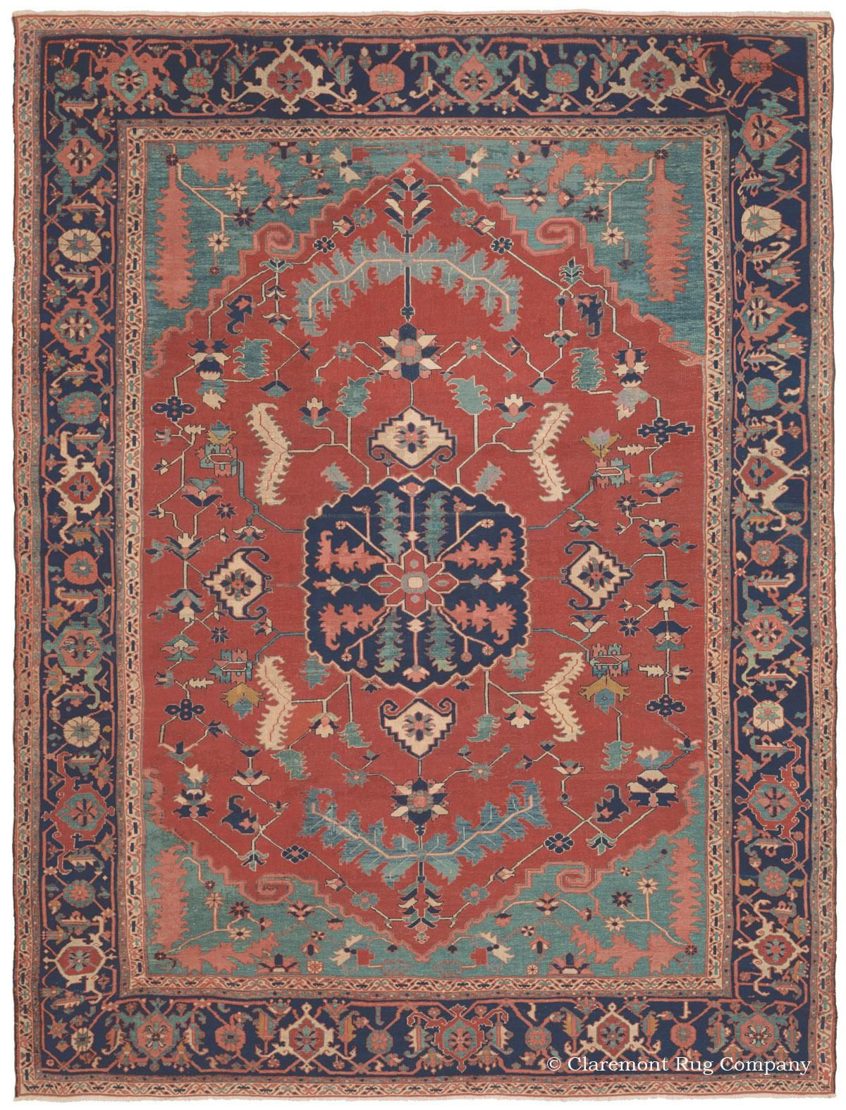 Serapi Northwest Persian Casual 9ft 8in X 12ft 5in 3rd Quarter 19th Century Rugs On Carpet Claremont Rug Company Rugs