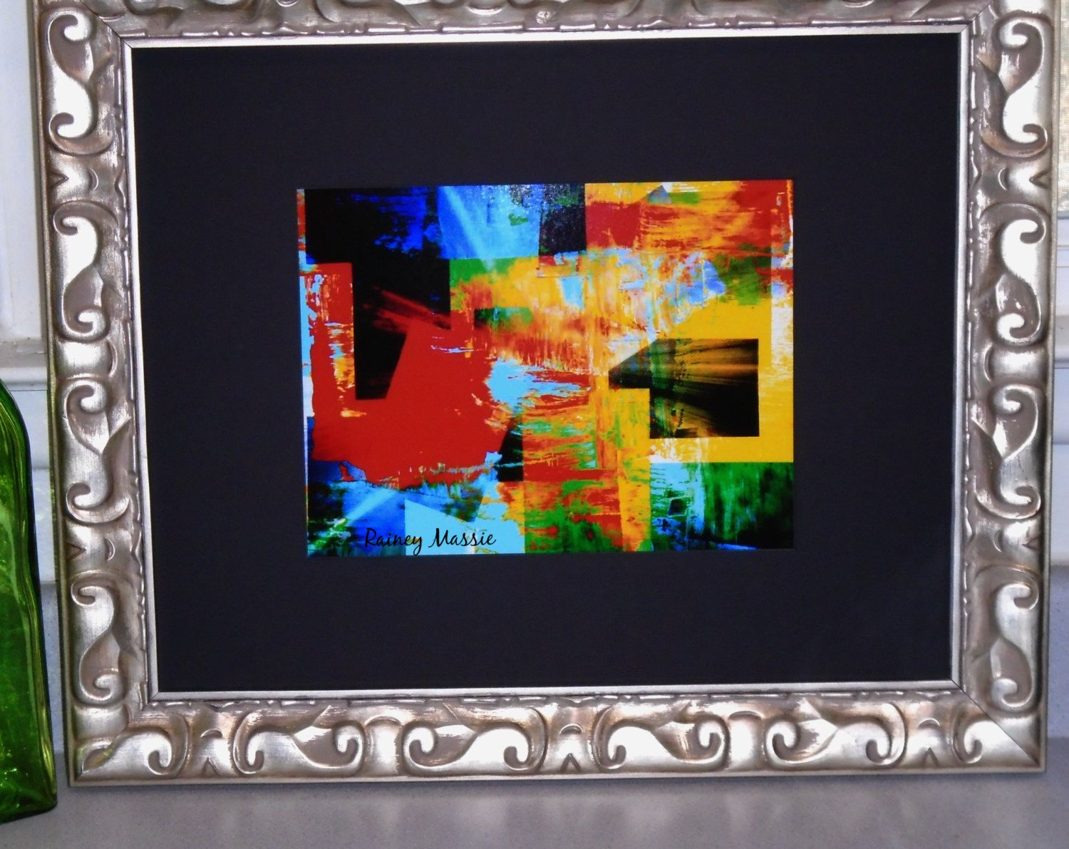 Patchwork Visions reprint in 16x20 Silver Frame by ArtInDemandStudio ...
