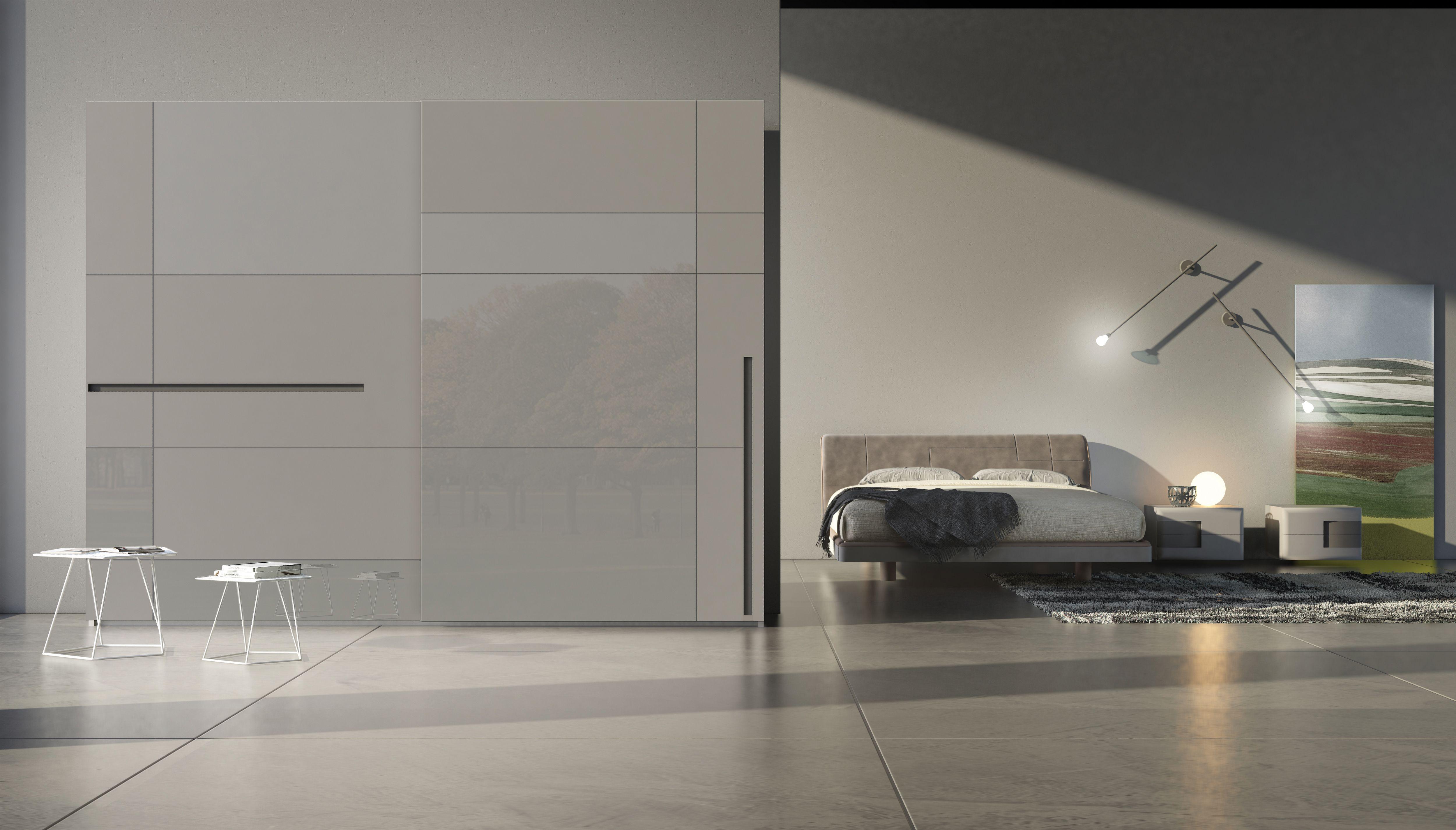 Armadio Nero Opaco : Armadio moderno con ante scorrevoli prestige laccato opaco grigio