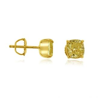 2 37 Ctw Fancy Yellow Studs 18k Stud Earrings Jewelry Stores Engagement Ring Online