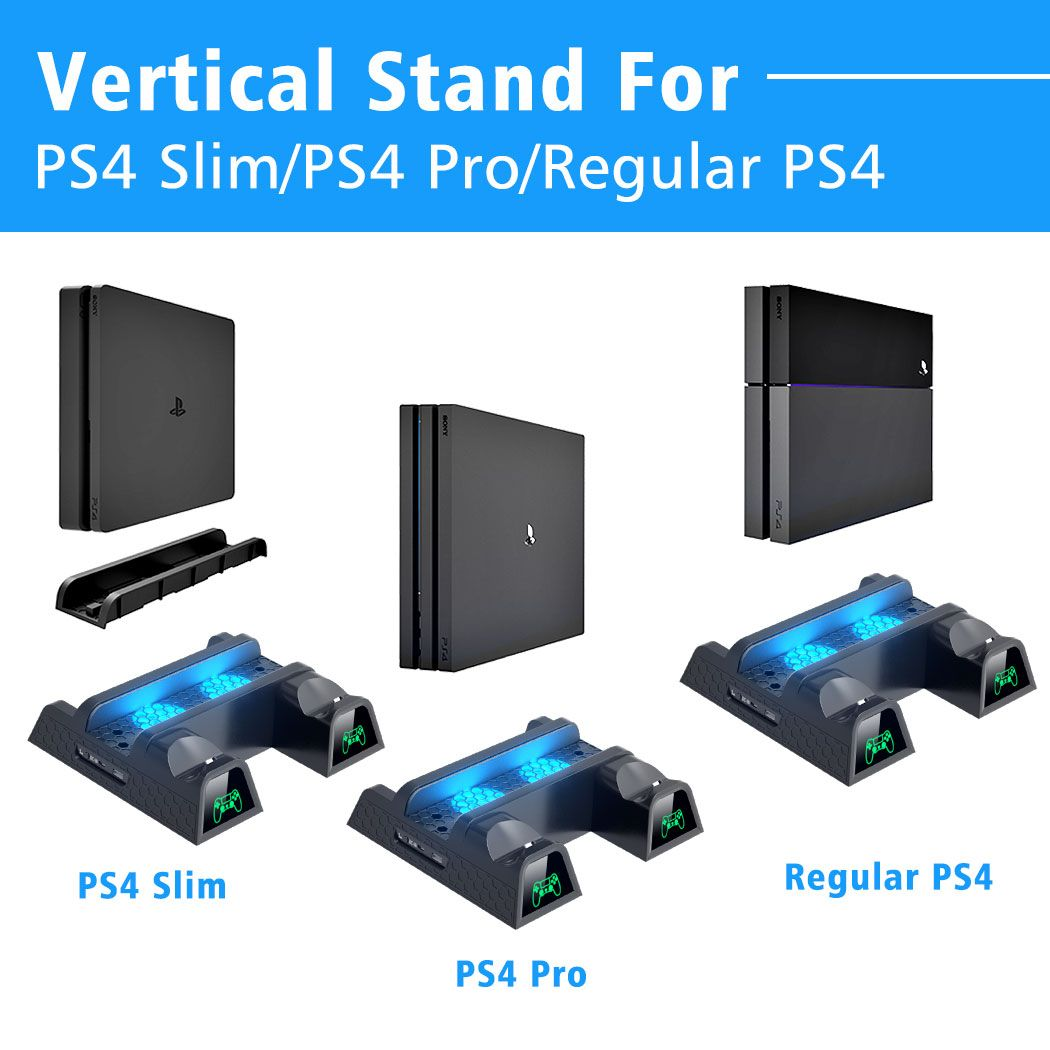 Oivo Ps4 Ps4 Slim Ps4 Pro Dual Controller Charger Console Vertical
