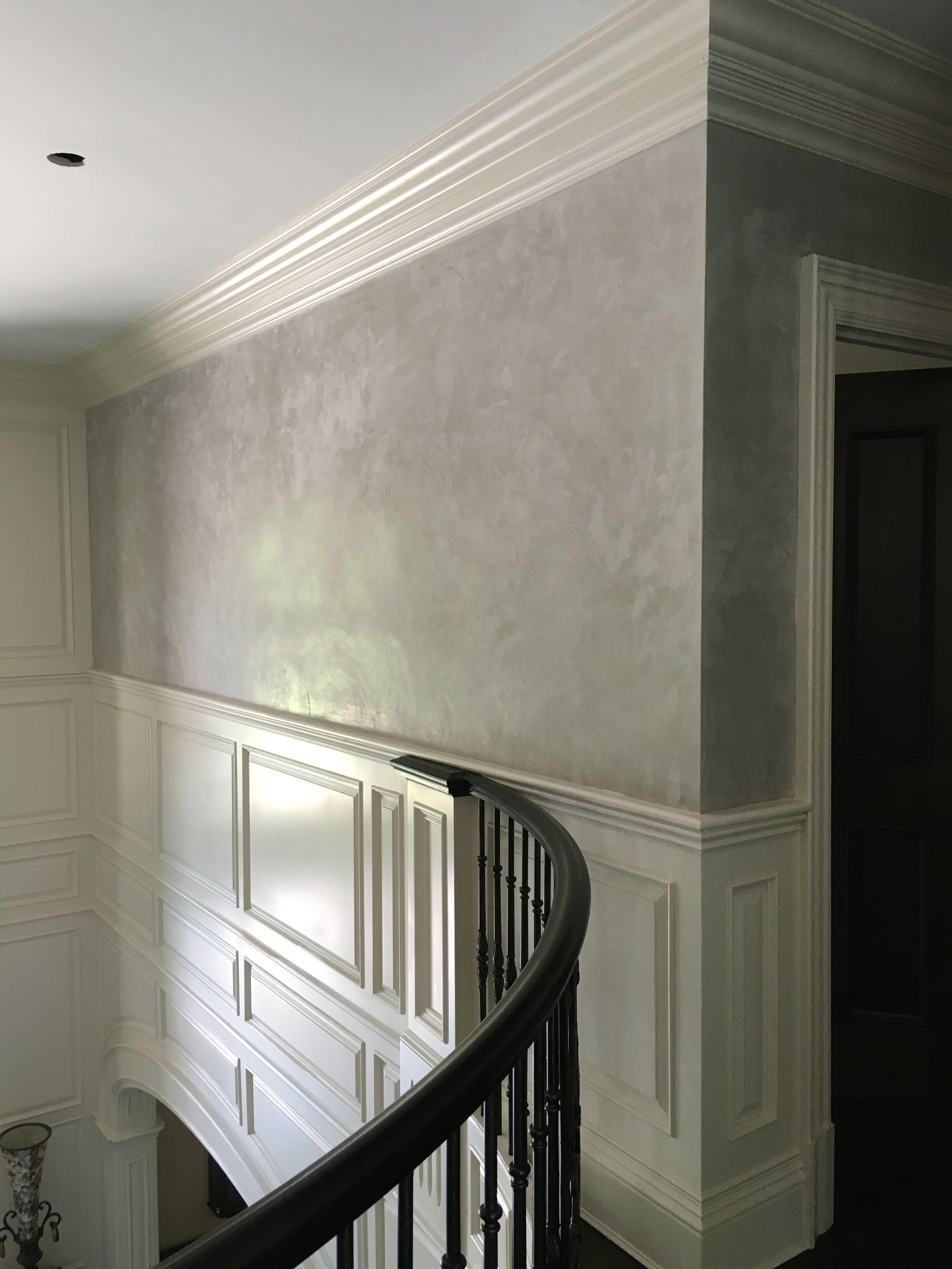 venetian plaster walls and wood molding house design. Black Bedroom Furniture Sets. Home Design Ideas