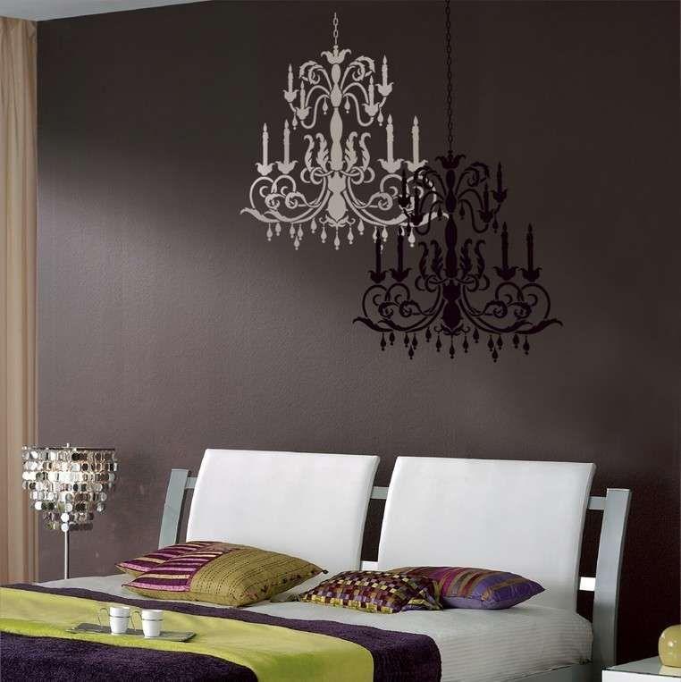 Stencil per decorare le pareti - Lampadari per la camera ...