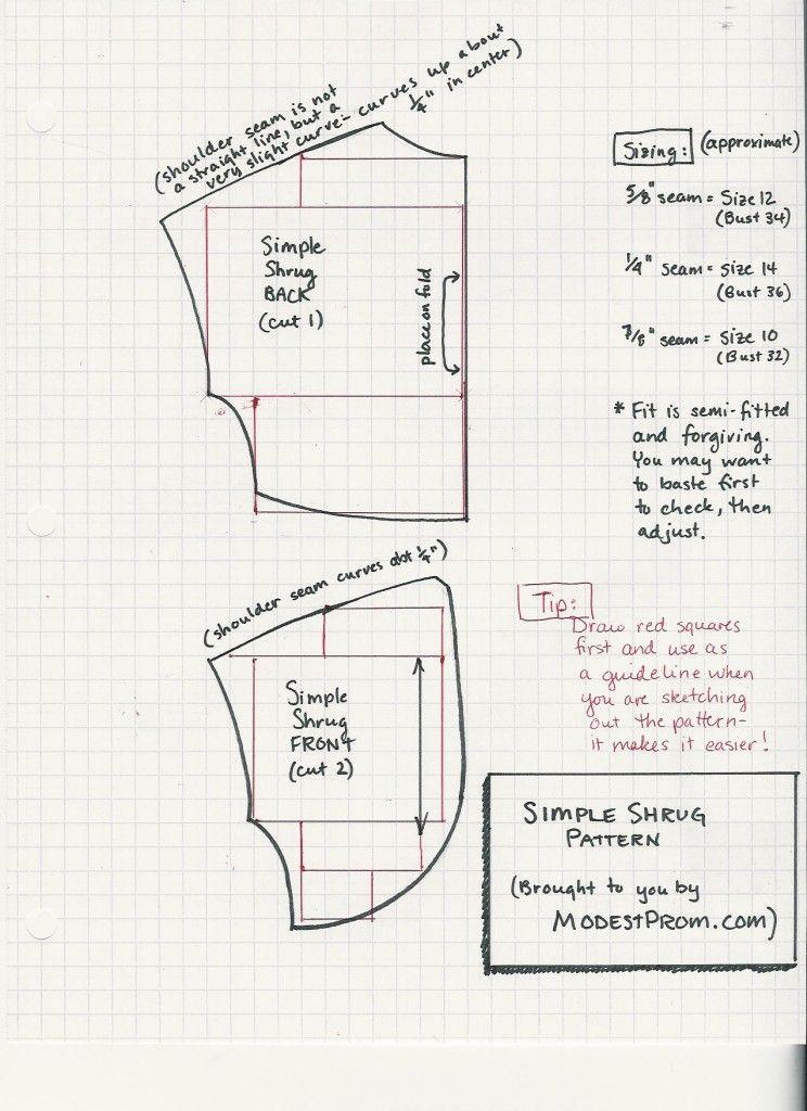 simple bolero pattern and instructions