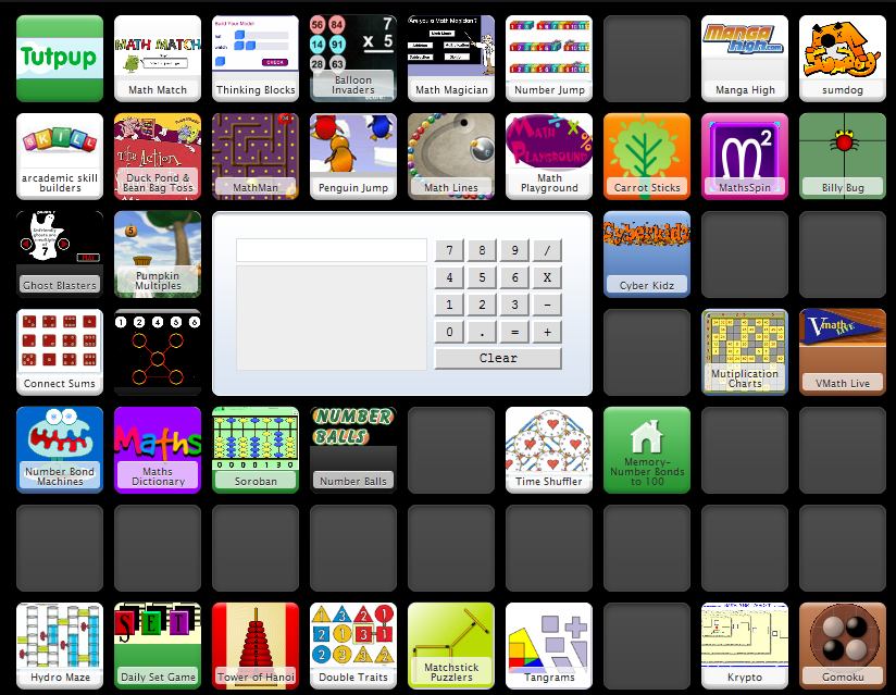 A list of websites, with descriptions, for elementary and middle ...