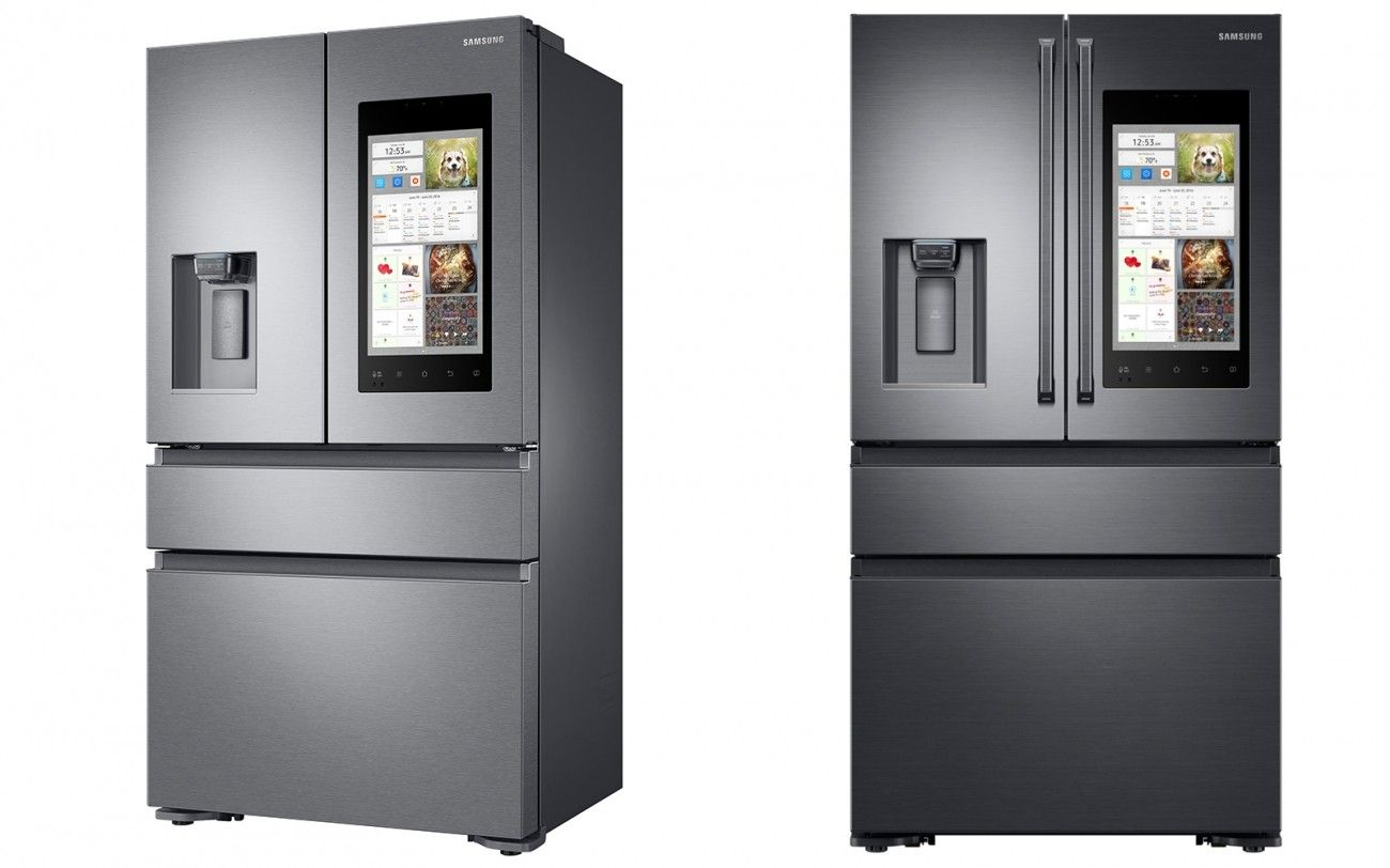 Samsung S New Smart Fridge Rocks A 21 5 Inch Screen Smart Fridge