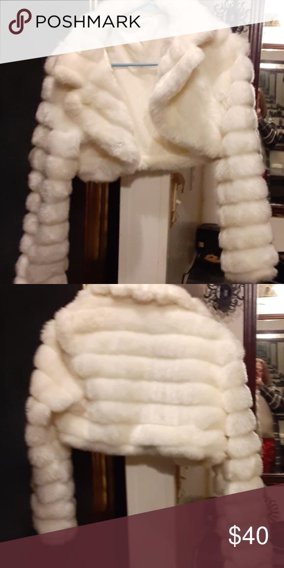 White Fur Half Coat Make Offer White Fur Fur Coat