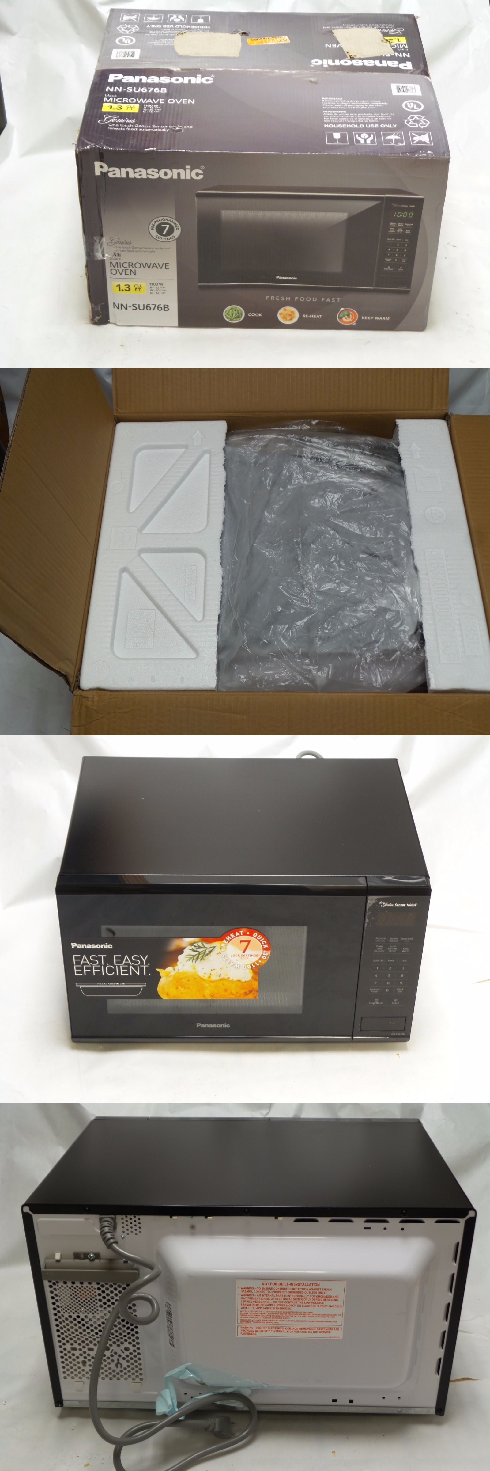 Microwave Ovens 150140 Panasonic Nn Su676b 1 3 Cu Ft Mid Size 1100 Watts Black Microwave Buy Countertop Microwave Oven Oven Models Countertop Microwave