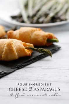 Cheese and Asparagus Stuffed Crescent Roll - Hello Nature