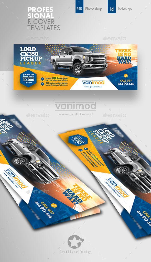Car Sales Facebook Cover Template PSD InDesign INDD  Facebook Timeline Cover Templates
