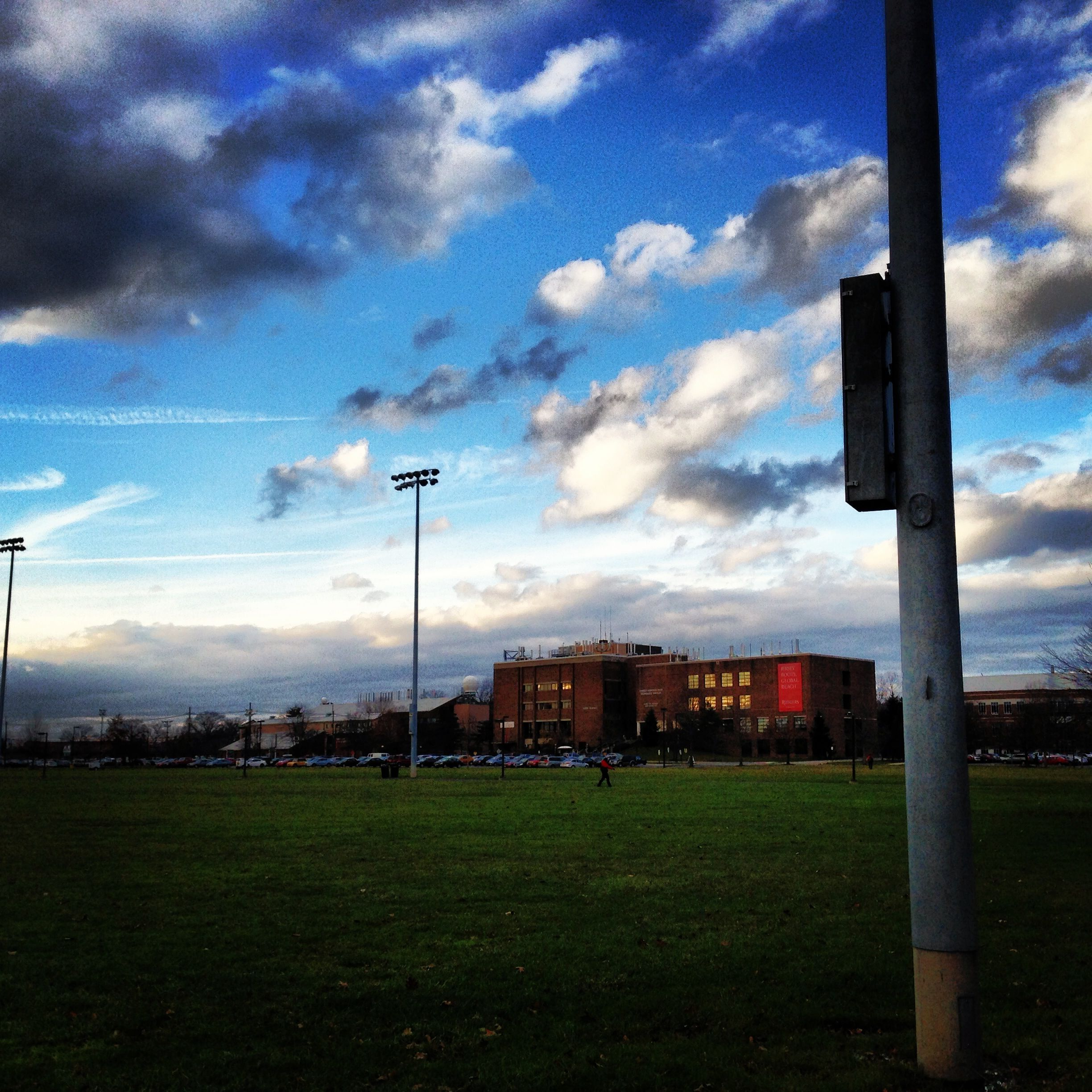 Blue Sky on Campus (Rutgers University)