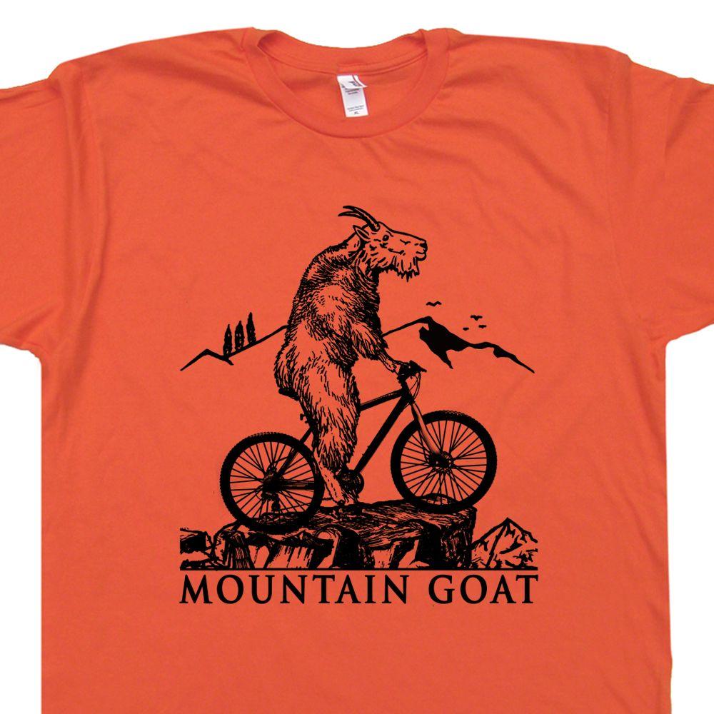 Cool Mountain Bike T Shirt. Mountain Goat Riding Bicycle T Shirt. Trail  Biking. Rockhopper Specialized Cannondale Vintage Giant Bikes. 8fb975e7e79