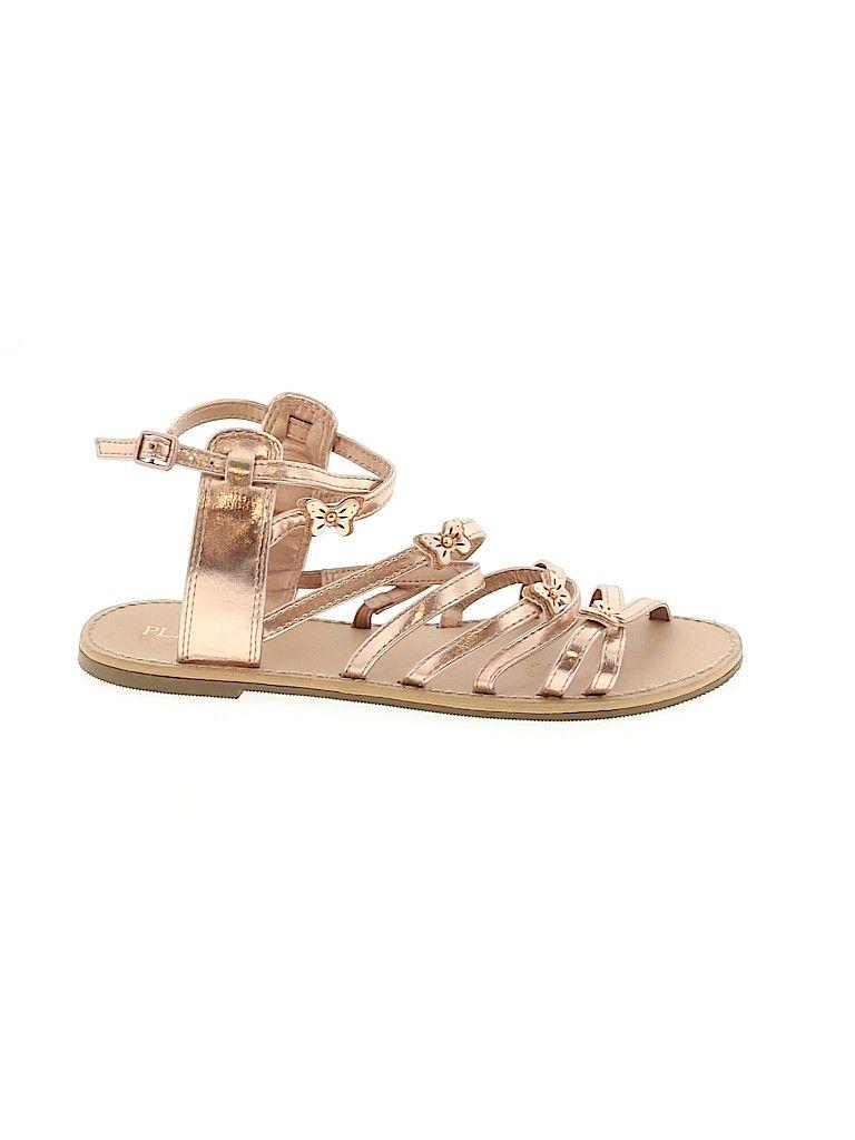 Sandals: Gold Shoes