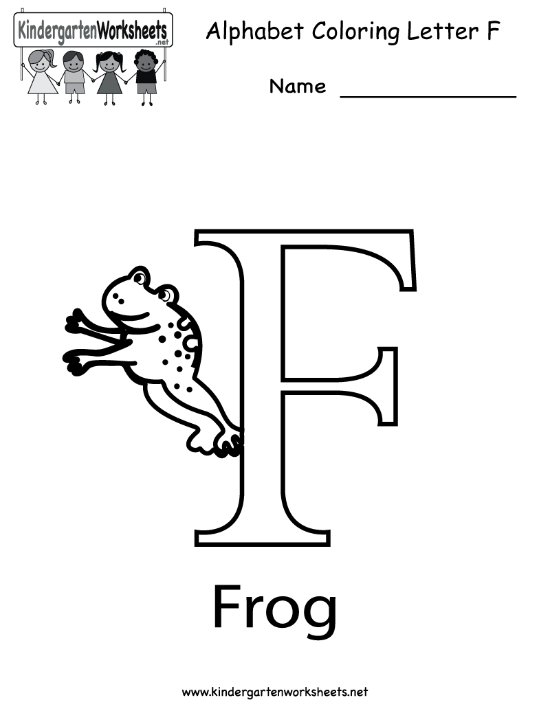 Kindergarten Letter F Coloring Worksheet Printable | Bella & Bri ...