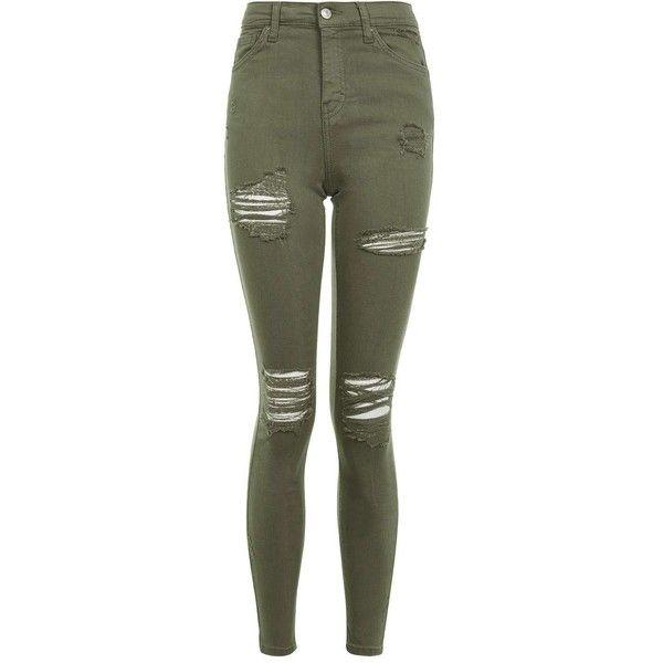 12bf0a2034de 61 Khaki Topshop Jeans Rip Super Moto Jamie qxHf1