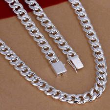 Unique Jewelry - HN96 solid 925silver 10MM chain men's necklace fashion jewelry gift