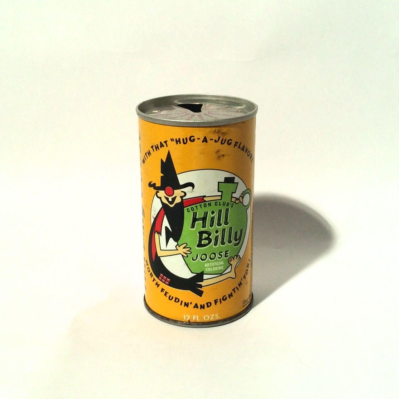 Vintage 1960s Hillbilly Joose Novelty Collectible Steel Pop Soda Can Pop Tab Canning Vintage Novelty