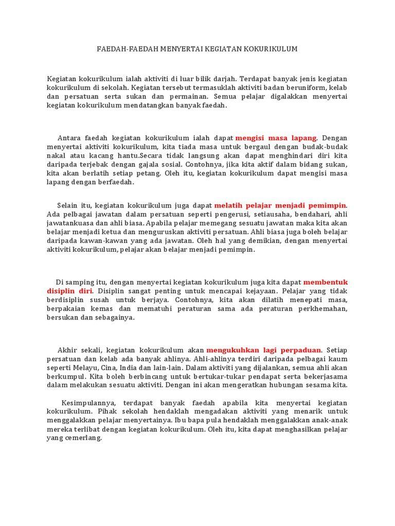 Image Result For Karangan Cemerlang Pt3 Faedah Menyertai Aktiviti Kokurikulum Kokurikulum Sekolah