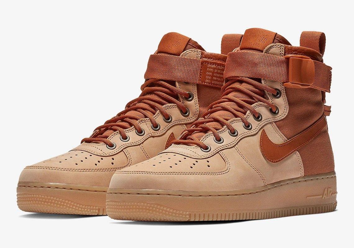 nike air force one high flax