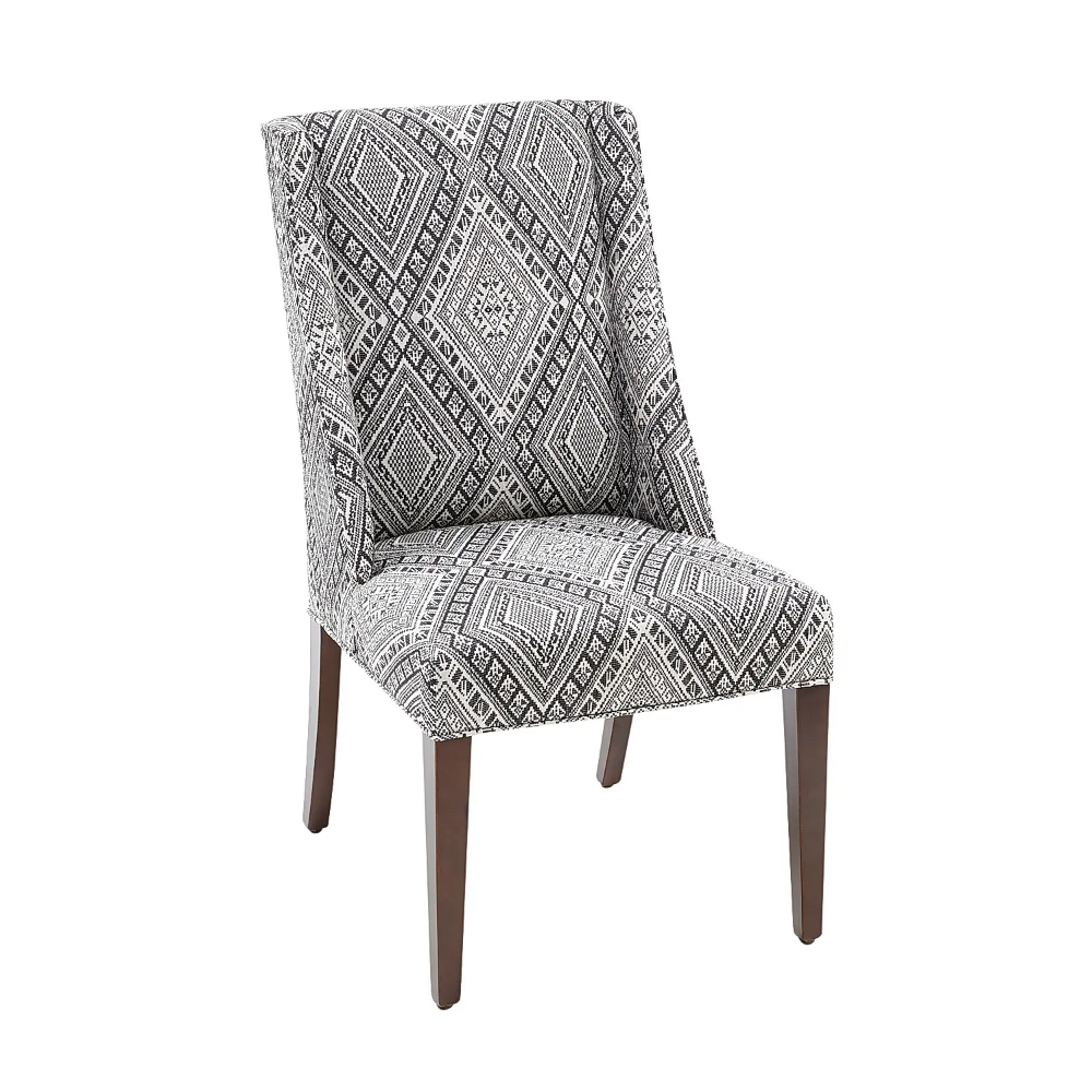 Best Owen Black White Buffalo Check Dining Chair With Black 400 x 300