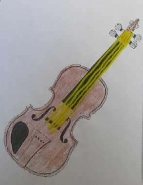 Preschool Storytime Crafts: Violin | V is for violin/volcano