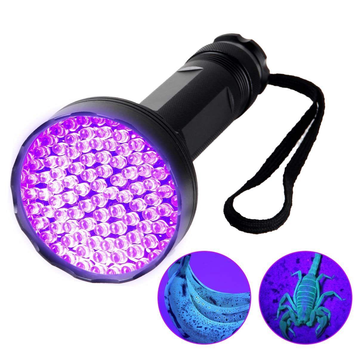 Yuan Xi UV Flashlight Black Light, 100 LED 390nm395nm