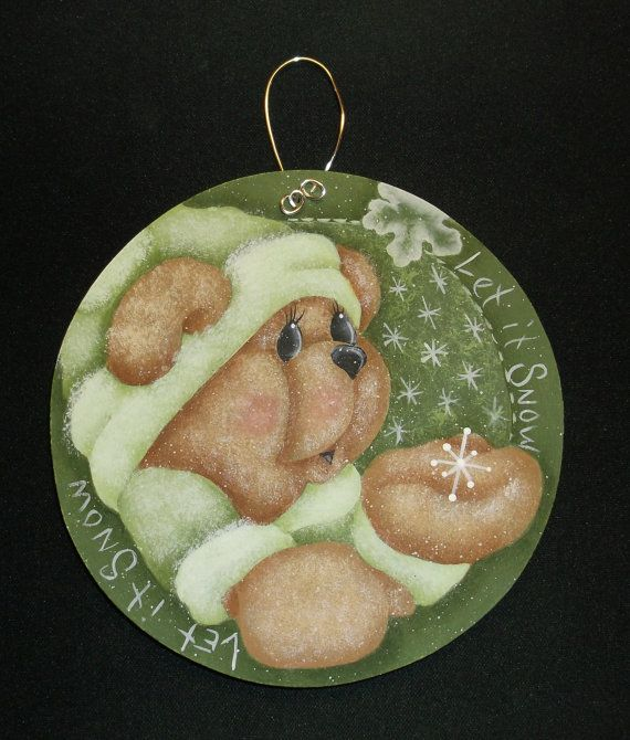 Debbie Mitchell Hp Teddy Bear Ornament  by KarensPaintedPieces
