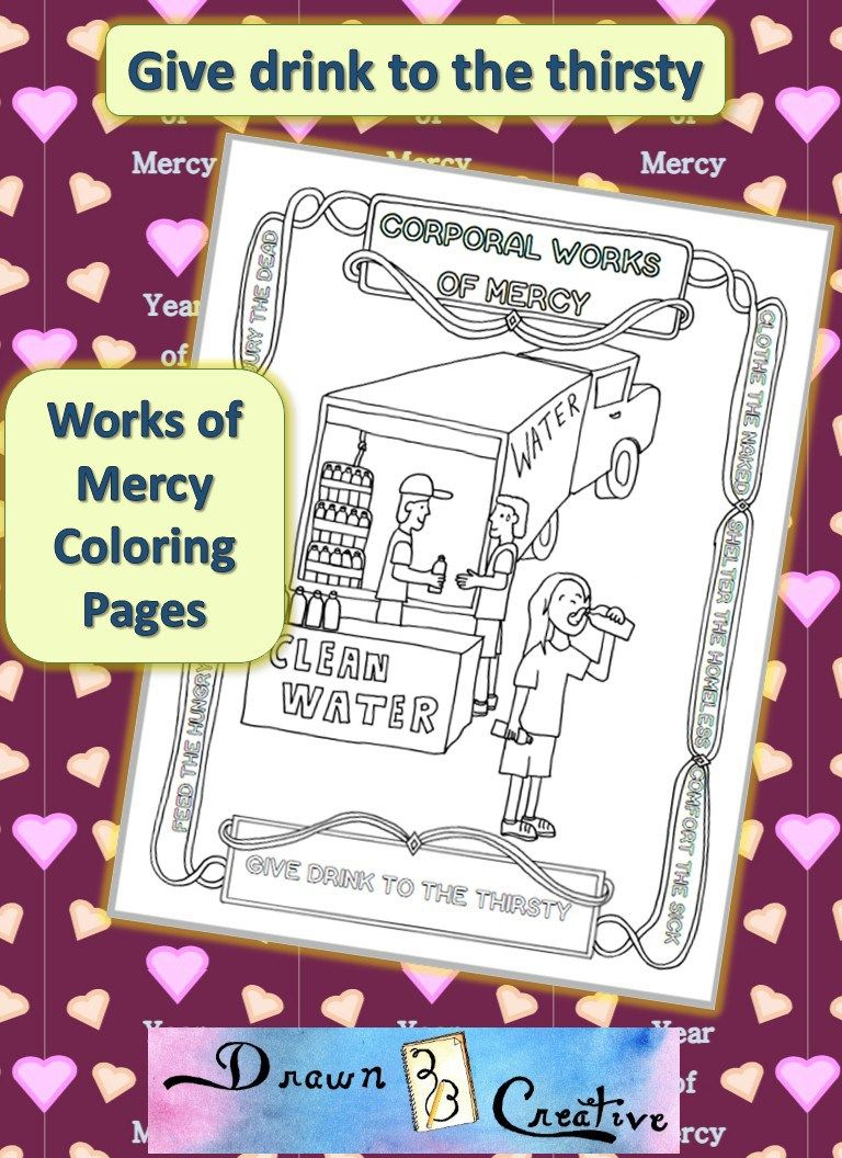 Corporal Works of Mercy Coloring Pages- Give Drink to the Thirsty ...