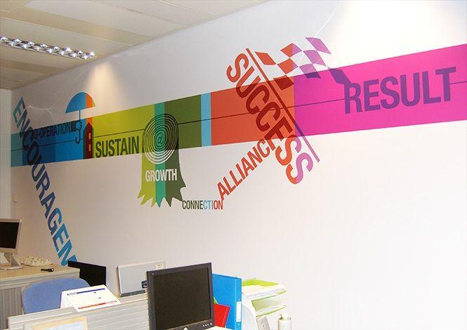 stunning office interior design wall art | Office Interior Graphic Design by Design Wall | Office ...