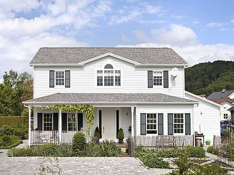 Amerikanische Häuser, Holzhaus, Holzrahmenbau, Bauweise, Foto